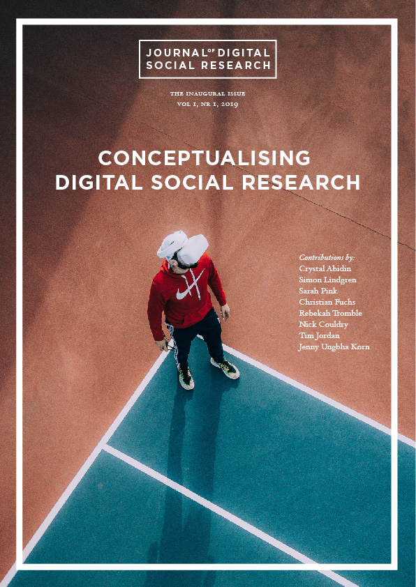 JDSR Vol 1, Nr 1, Cover image – Conceptualising Digital Social Research